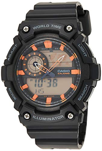 Casio Mens Quartz Watch, Analog-Digital Display and Plastic Strap AEQ-200W-1A2VEF