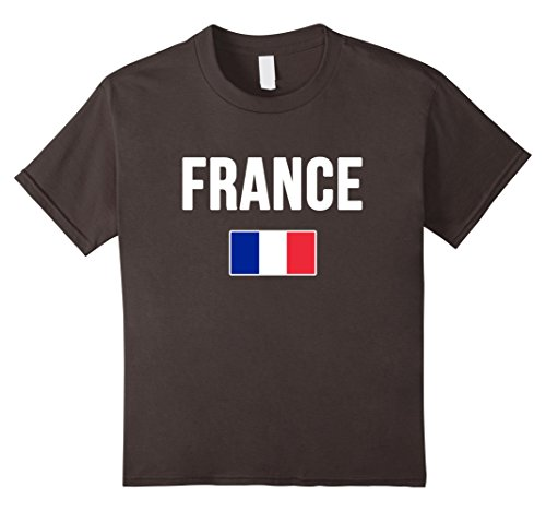 France Flag T-shirt (Kids France T-shirt French Flag . 6 Asphalt)