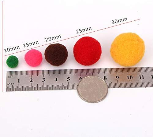 20mm Couleur Al/éatoire pour D/écoration Cr/éations Artisanales Ponpon Papier Da.Wa Lot de 100pcs Pompons