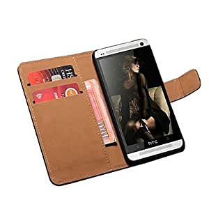 Book Style Genuine Leather Stand Wallet Case for HTC by ruishername