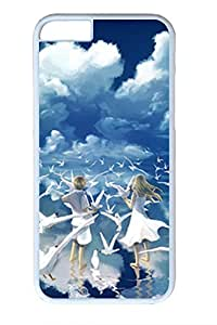 The Blue Sky White Clouds Boys And Girls Slim Hard Cover for iPhone 6 Case (4.7 inch) PC White Cases