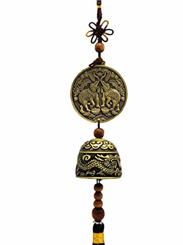 Betterdecor Feng Shui Lucky Elephant Wind Chime for Good Luck (With a Logo Gift Bag) by Betterdecor