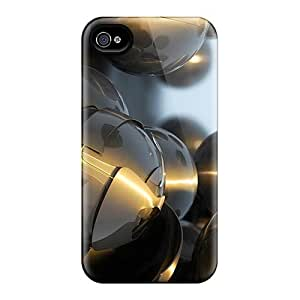 Durable Cases For The Iphone 4/4s- Eco-friendly Retail Packaging(chrome 3d)