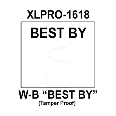 200,000 XLPro compatible 1618 ''Best By'' White General Purpose Labels to fit the XLPRO-1618 Price Guns. Full Case. by Infinity Labels