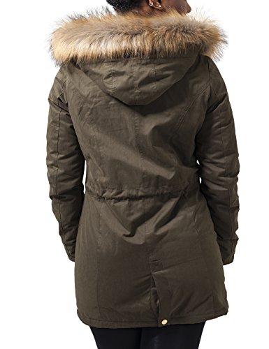 Classics Mujer Sherpa Para Peached Parka Grün Ladies 176 Lined Urban Chaqueta olive wUd68qx1