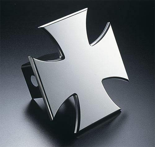 Billion_Store Iron Cross Hitch Cover Billet Aluminum Best Accessories for Tuning