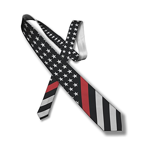 Thin Line Necktie - US Flag (Red)