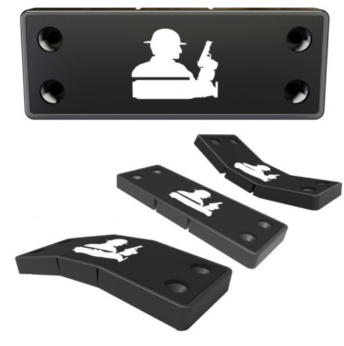 e5e10 Lurk Gun Magnet Mount with 3M Tape & Holster Multi Angle Hide Adjustable Design never damage car or desk-Rubber Coated 43 Lbs Rated -concealed holder for Handgun,fit for all surface
