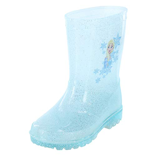 Frozen Turquoise Girls' Toddler Rain Boot 8 Regular (Payless Shoes For Girls Boots)