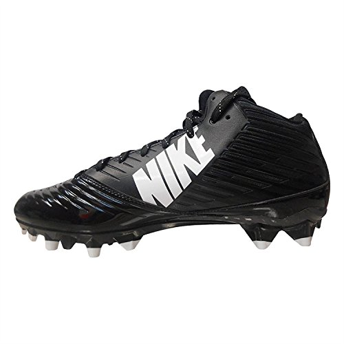 Nike Vapor Speed 3/4 TD Football Cleat Black/White Size 10 D(M) US (Cam Newton Cleats White)