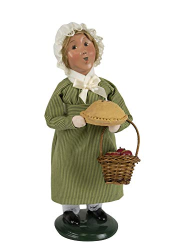 Byers' Choice Colonial Girl w/Pie Caroler Figurine from The Colonial Williamsburg Collection #5193 (New - Girl Byers Choice