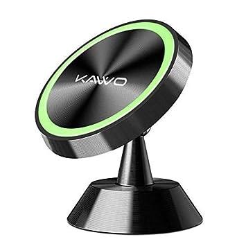 KAVVO Soporte Móvil Coche Magnético Soporte Teléfono Coche con 360º de Rotación Sujetador Universal-Soporte Smartphone Coche para iPhone X/8/7/6, ...