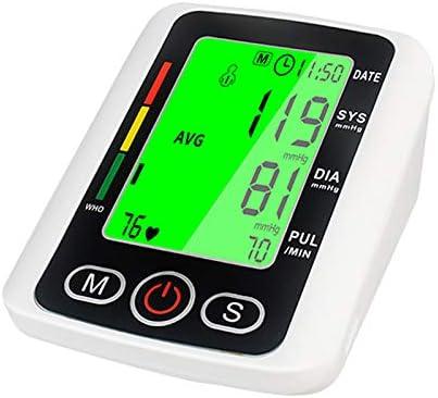YMHL Monitor de presión Arterial - HD LED - Lecturas rápidas y precisas, 2 usuarios, 240 memorias de Lectura, Pantalla retroiluminada, Anuncio de Voz
