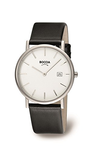 Boccia B3547-02 Mens Titanium White Black Watch