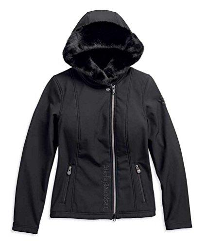 Harley-Davidson Women's Faux Fur Lined Hooded Softshell Jacket 97453-18VW (XL)