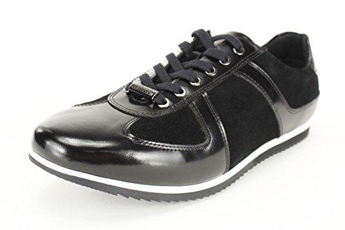 Versace Jeans - Zapatillas de Piel para hombre negro negro