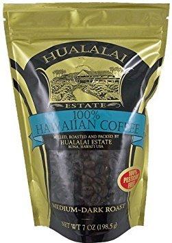 Hualalai Kona Coffee - Hualalai Hawaiian Coffee Dark Roast Estate Grown (Whole Bean)