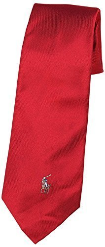 Polo Ralph Lauren Men's Silk Multi Colored Pony Tie-Red