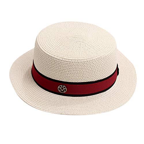 (Womens Straw Hat Wide Brim Floppy Beach Cap Adjustable Sun Hat for Women UPF 50+ Silver)
