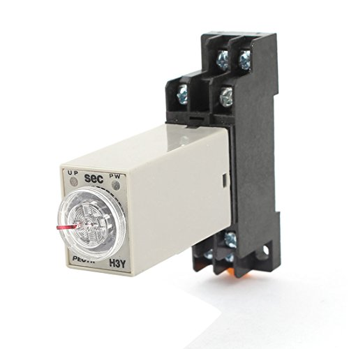 Uxcell a14112200ux0142 AC 110V H3Y-2 Time Delay Relay Solid State Timer 0-60S DPDT w Socket