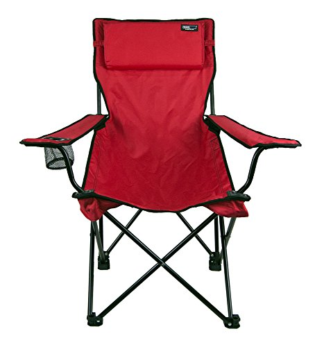 TravelChair Classic Bubba Chair, Comfortable Large Folding Camping Chair, Red