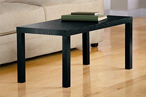 Dhp parsons modern coffee table black wood grain buy for Coffee tables uae