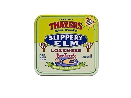 Thayers Slippery Elm Lozenges, Maple 42 ea (Pack of 60)
