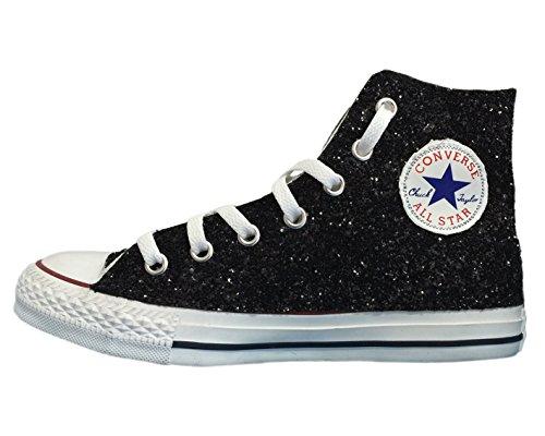 Tessuto Glitter Applicazione Star All Con Di Pizzo Nero Converse E FxHqwXSH