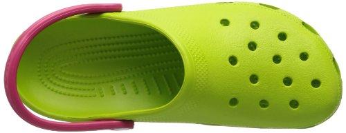 Crocs Classic, Zuecos Unisex Adulto Verde (Volt Green/Raspberry)