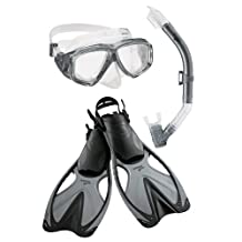 Speedo Adult Adventure Mask Snorkel Fin Set