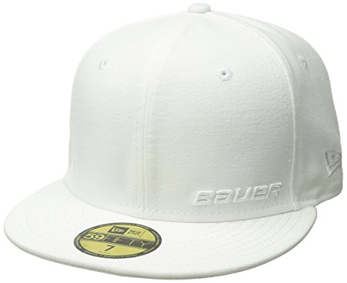 Bauer Men's New Era 59Fifty Mesh Back Cap, White, (Bauer Mesh)