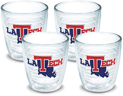 Tervis 1080960 Louisiana Tech Bulldogs Logo Tumbler with Emblem 4 Pack 12oz, Clear