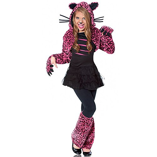Cheap Animal Halloween Costumes (Costume Culture Bad Kitty Girl's Costume, Pink, Medium)
