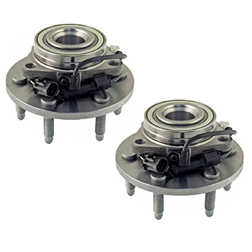 PAIR Front Left And Right Wheel Hub Bearing Assembly fit 2000 2001 2002 2003 2004 2005 2006 CHEVROLET TAHOE (All 4WD Models with 6 studs)