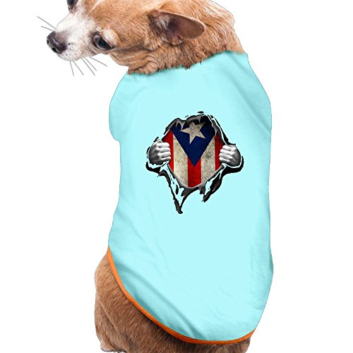 Besineawsfaw Puerto Rico Flag Dog Cat Shirts Tank Top Vest Pet Clothing For Dogs Or Cats Costume M