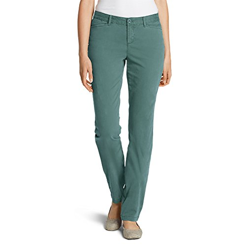 Eddie Bauer Women's Legend Wash Stretch Pants - Curvy Fit, Azure Regular 10 ()