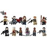 Custom The Walking Dead 6 Mega Packung - Rick, Daryl, Glenn, Michonne, Gouverneur, Abraham