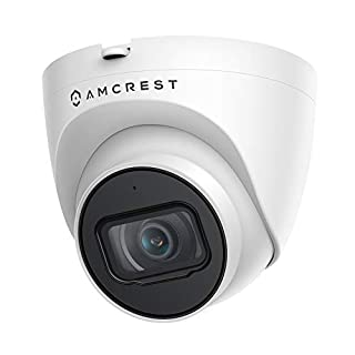 Amcrest 5MP UltraHD Outdoor Security IP Turret PoE Camera with Mic/Audio, 5-Megapixel, 98ft NightVision, 2.8mm Lens, IP67 Weatherproof, MicroSD Recording (256GB), White (IP5M-T1179EW-28MM)