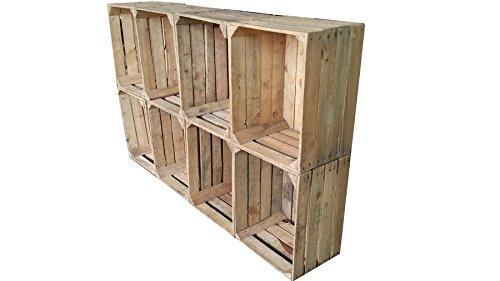8 pezzi costruzione massive usate legno casse vino casse per