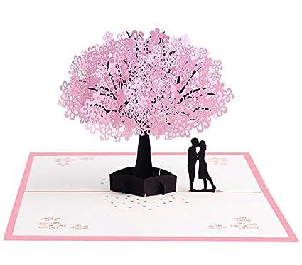 Czemo Tarjeta 3D Amor Pareja Tarjeta Pop-up Tarjeta de Cumpleaños, Tarjeta de Boda e Invitación, Tarjetas de Felicitación