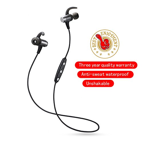 Bluetooth headphones wireless earbuds Bluetooth 4.1 with microphone sport stereo headset IPX7 waterproof sweatproof earphones bremium sound with bass noise cancelling for gym running workout