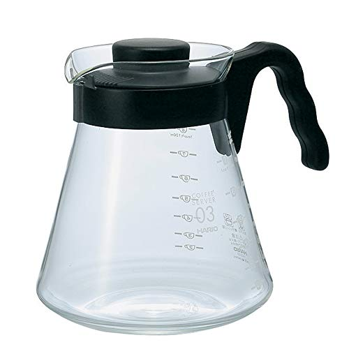 Hario V60 Glass Coffee Server, 1000ml, Black