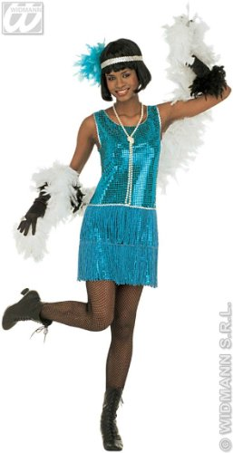 Costume Italian Mob (Ladies Deluxe Flapper Costume Extra Large Uk 18-20 For 20s 30s Mob Capone)
