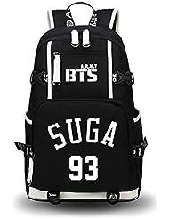 JUSTGOGO Luminous Korean Casual Daypack Laptop Bag College Bag Book Bag School Bag Backpack