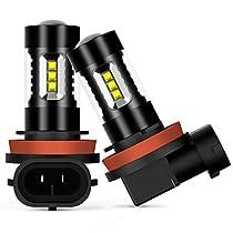 AUXITO LED フォグランプ H8 / H11 / H16 (国産車)/ H9 LED フォグ ランプ アンバー LED素子16連 / ...