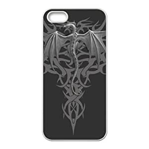 iPhone 4 4s Cell Phone Case White Dragon tribal N5T2HX