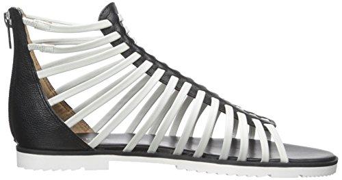 Calvin Klein Womens Gladiatore Sandalo Gladiatore Nero / Bianco