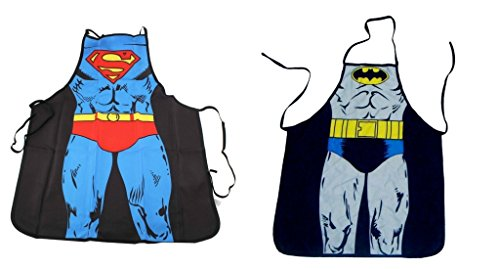 Fraternity Party Halloween Costumes (DC Comics Justice League Superman and Batman Superhero Character Child (Youth, Petite) Apron Set)