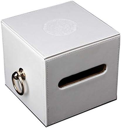 YDOZ Tissue Box quadratisches Papier-Box Runde Papier Rohr, einfach Serviette Tablett Schwarz Rot Weiß Tissue Box Cover Gesicht (Color : White)