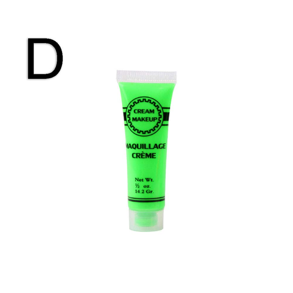 JPOQW Halloween Environmental Body Painting Color Hose Cream Makeup Face Color (Green, Small)